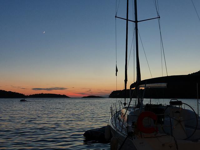 Sunset at Pomena on the island of Mljet, Croatia