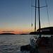 Sunset at Pomena on the island of Mljet, Croatia
