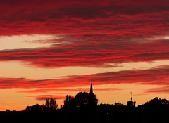 City view sunset