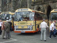 DSCF0546 Preserved Yelloway CDK 172L outside Rochdale Town Hall