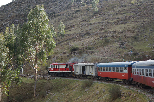 On the way from Huancavelica to Huancayo
