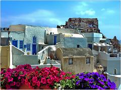Santorini : Il Castello bizantino nella parte alta del lato nord di Oia - (964)