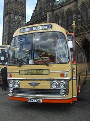 DSCF0547  Preserved Yelloway CDK 172L outside Rochdale Town Hall