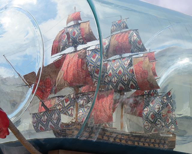 ship in a bottle,greenwich, london