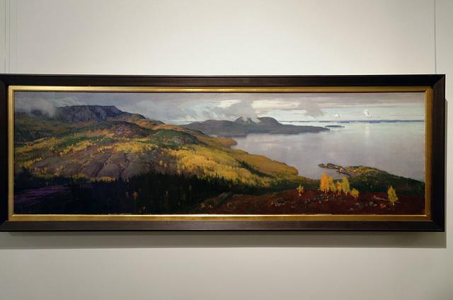 """""""Paysage d'automne du lac Pielisjärvi"""" (Eero Järnefelt - 1899)"""