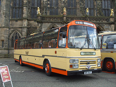 DSCF0551 Preserved Yelloway WDK 562T outside Rochdale Town Hall