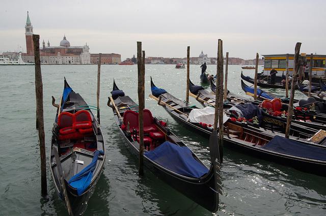 Gondolas at San Zaccaria