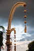 A Penjor in the sunlight