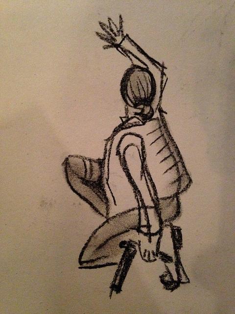 Sketching at Redondo Pier