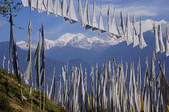 Buddhist Prayer Flags and Kangchenjunga (8,586 m)