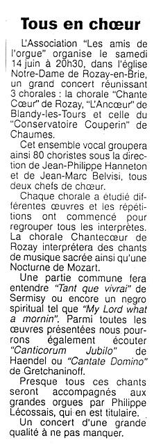 Rozay-en-Brie 14 juin 1997