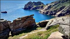 Cornish granite coast at Logan Rock, for Pam.