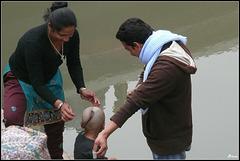Deuil au Népal