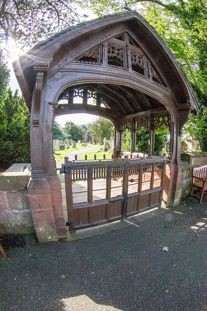 A fisheye view of the lich gate