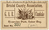 Labor Day Clambake Ticket, Bristol County Association of the G.A.R., Sept. 6, 1888