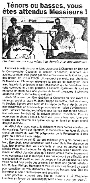 Chaumes-en-Brie 07 février 1997
