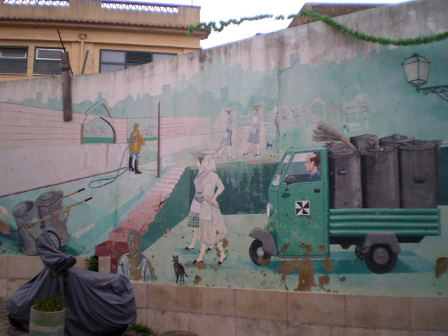 Mural of the Urban Cleaning Centre.
