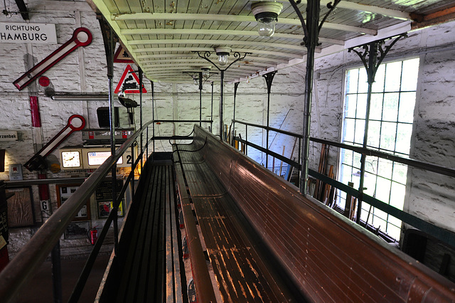 Eisenbahnmuseum Lokschuppen Aumühle 2015 – Top floor of 1906 Kleinbahn-Beiwagen 56