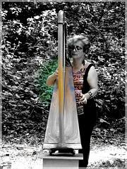 Lili (harpe celtique) à l'art est dans les bois (22) avec effet de mon appareil photo