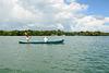 Guatemala, Scene with a Boat on the Isabal Lake (Lago de Izabal)