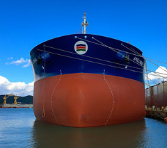 New supertanker fitting out in DSME