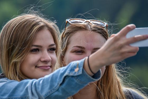 Selfie auf der Hängebrücke