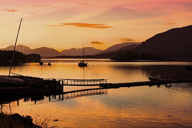 Gangplank at sunset.