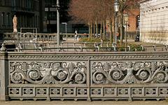 Geländer der Graskellerbrücke