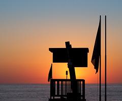 Lifeguard's sunset