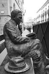 Antonio Machado, poet - sculpture in Baeza