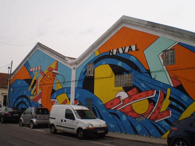 Painting on Lisbon Naval Club.