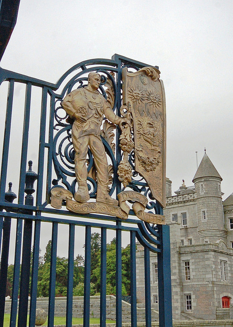 Detail of entrance gates Dunect House, Aberdeenshire