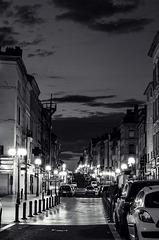 l'heure bleue en noir et blanc - blue hour in black and white