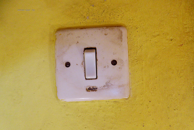 der Schalter an der Wand