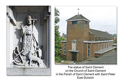 The statue of Saint Clement, East Dulwich 21 4 2005