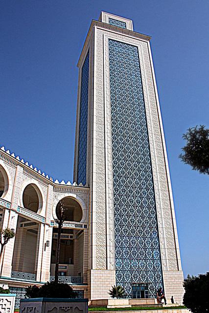 Minaret de la grande mosquée d'Oran. HBM.