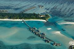 Vue aérienne Maldives 2011