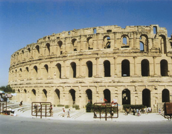 Tunisia. El Jem. the Roman colosseum