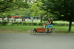 Fietsen in het Vondelpark