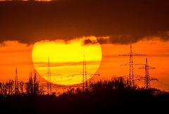 Saharasand-Sonnenuntergang +PiP