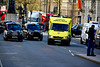 England 2016 – London ambulance pushing through traffic