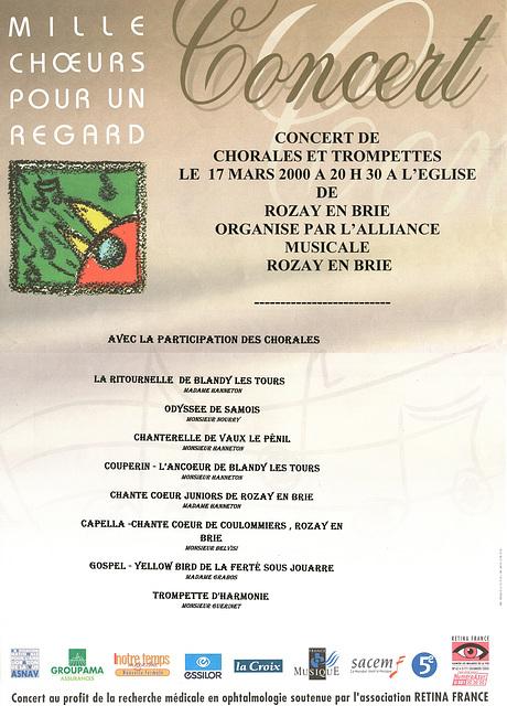 Mille Chœurs à Rozay-en-Brie le 17/03/2000