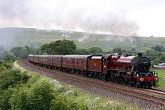 LMS class 6P Jubilee 4-6-0 45699 GALATEA with 1Z87 15.00 Carlisle - Milton Keynes The Cumbrian Mountain Express at Smardale 23rd June 2018 (steam as far as Farington Jct)