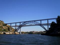 Railway bridges over River Douro.