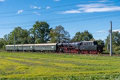 Sonderzug mit 50 3648-8 auf der Rückfahrt nach Chemnitz