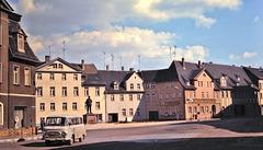 Eisleben (D; damals DDR; à lépoque RDA, Allemagne de l'Est) Avril 1977 (Diapositive numérisée).