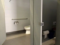 The sheriff had a nice toilet!