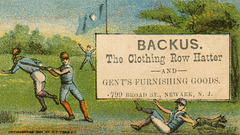 Peter S. Backus, the Clothing Row Hatter, Newark, New Jersey