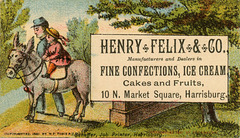 Henry Felix and Company, Fine Confections, Ice Cream, Harrisburg, Pa.