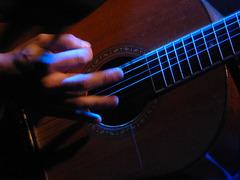 un uomo e la sua chitarra